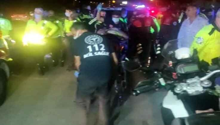 Antalya'da trafik polisleri kaza yaptı: 1 polis yaralı