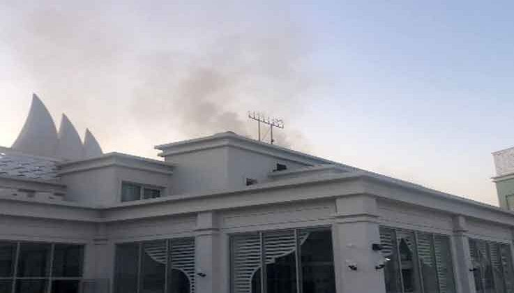 5 Yıldızlı otelde baca yangını korkuttu
