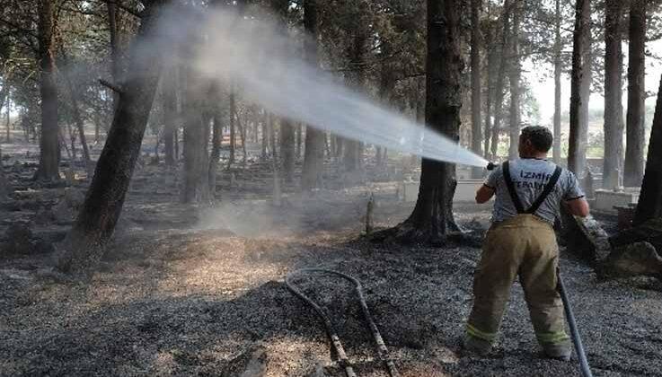 Büyükşehir 646 araç bin 767 personel ile yangın bölgesinde görev yapıyor