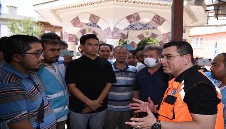 Tütüncü, afet bölgesinde yardım çalışalarını koordine etti