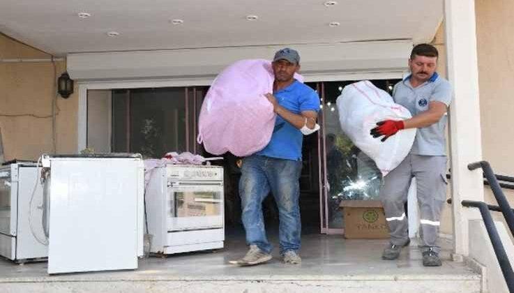 Kemer'den,Manavgat'a yardım devam ediyor
