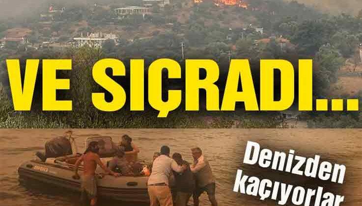 Milas'taki yangın Bodrum'a sıçradı! Denizden kaçıyorlar