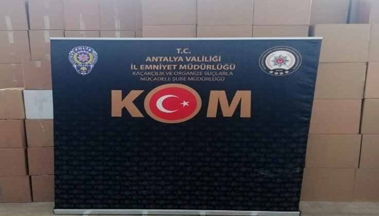 Antalya'da kaçak sigara operasyonu: binlerce boş ve tütün dolu makaron ele geçirildi
