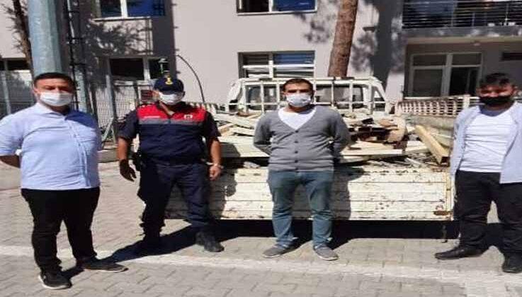 50 bin TL değerindeki sera demirlerini çalan 3 kişi yakalandı