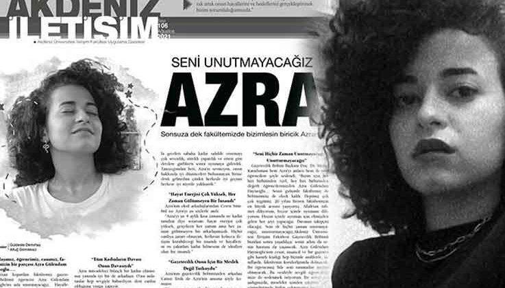 Arkadaşları, katledilen Azra'nın haberini, gözyaşlarıyla yazdı