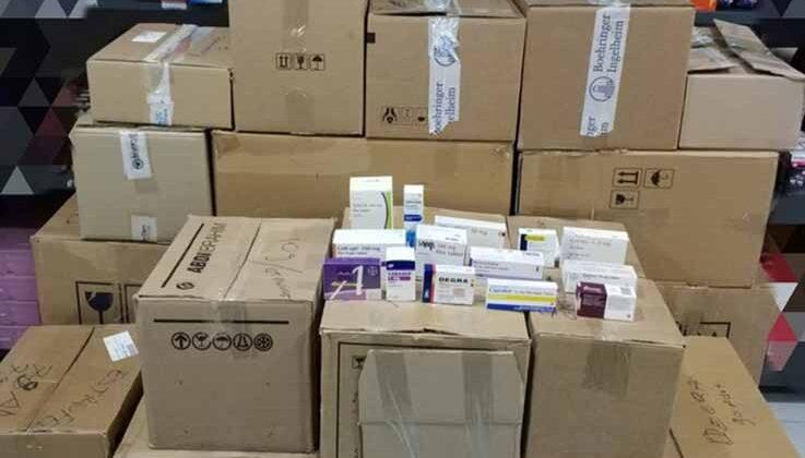 Antalya'da piyasa değeri 1 milyon 610 bin TL olan 7 bin 482 adet kaçak ilaç ele geçirildi