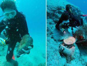 5 bin yıl önce gemilere geçit vermeyen boğazda, 8 batık bulundu
