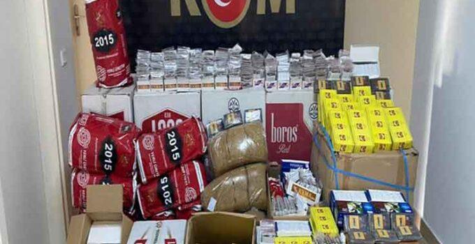 Alanya'da 9 bin 400 adet makaron ve 75 kilo tütün ele geçirildi